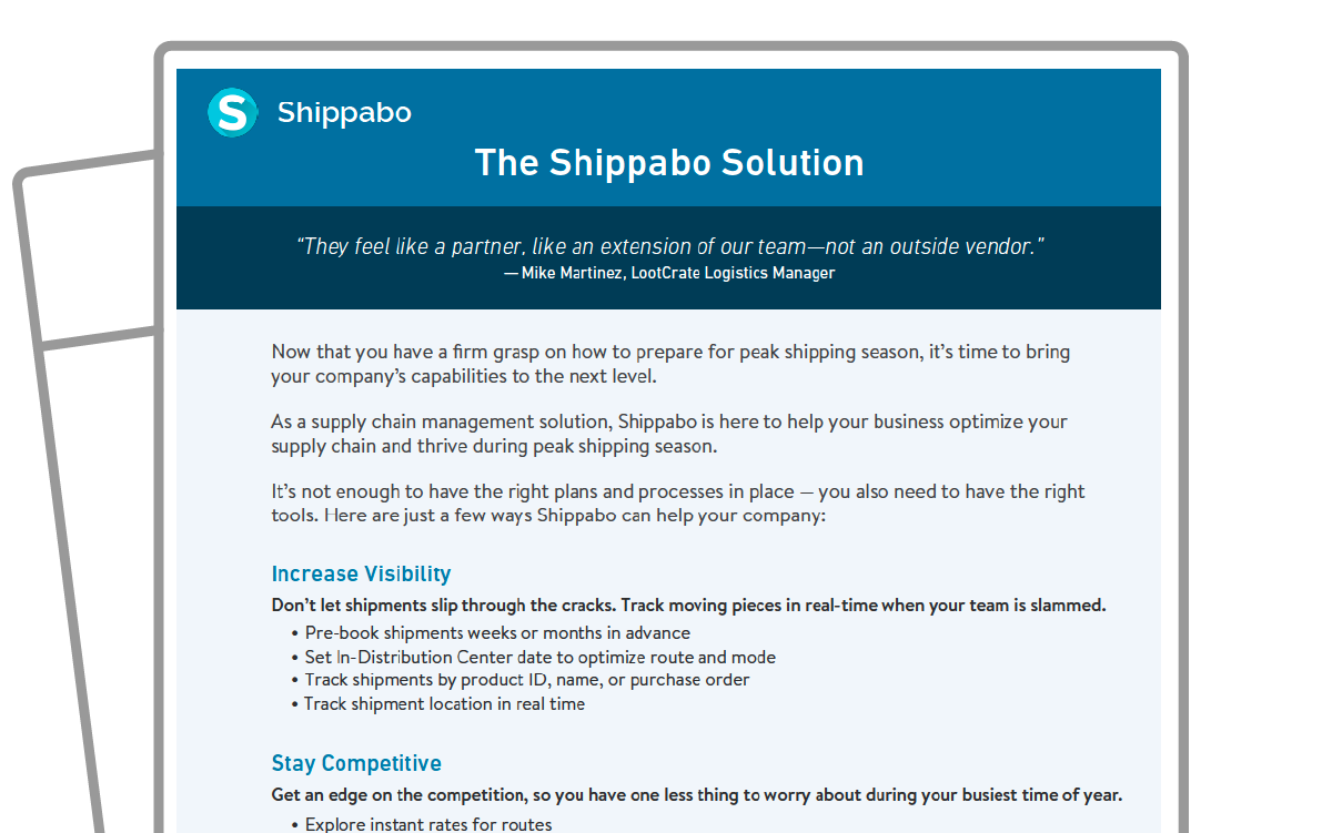 One Sheet icon Best Practices - 7 Tips for Optimizing Shipments