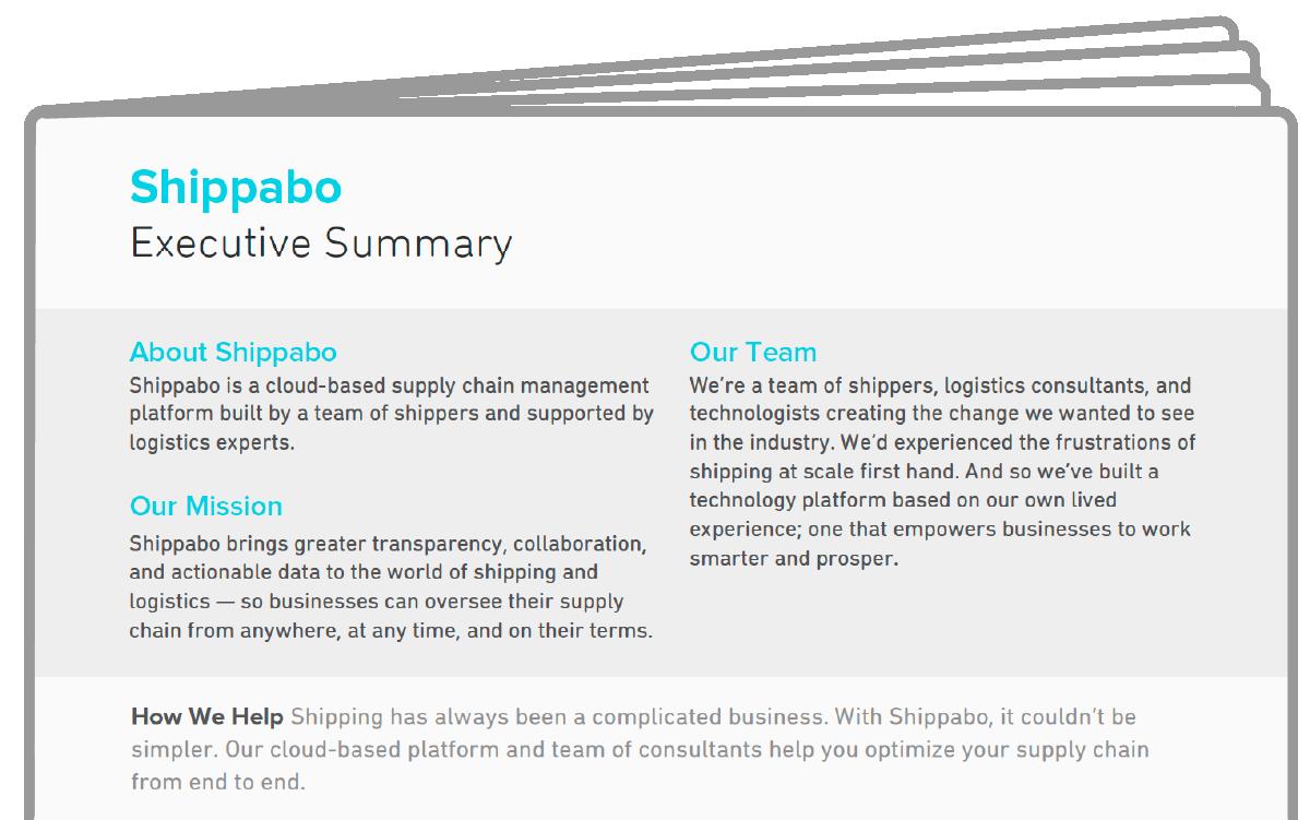 Shippabo Executive Summary Icon