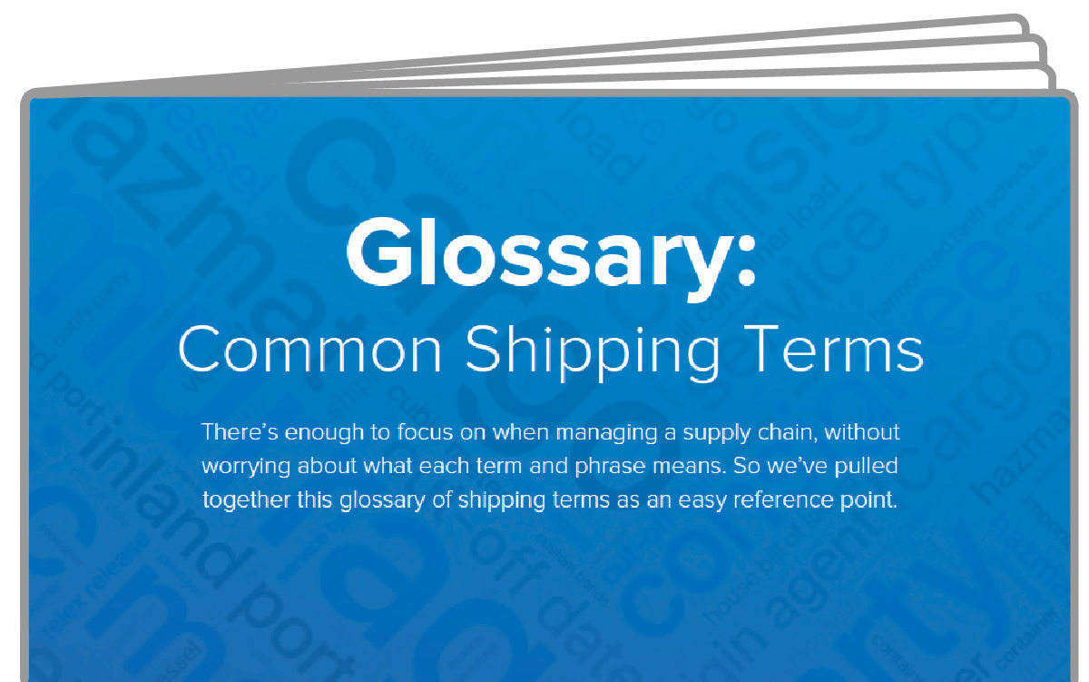 eBook icon Glossary of Shipping Terms